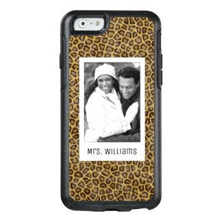 Coque OtterBox iPhone 6/6s Fourrure faite sur commande de photo et de léopard