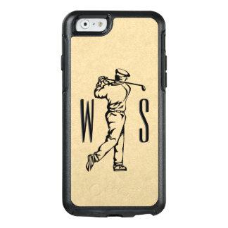 Coque OtterBox iPhone 6/6s Golfeur sur décoré d'un monogramme simili cuir