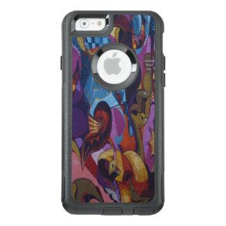 Coque OtterBox iPhone 6/6s Graffiti d'abrégé sur pourpre de rouge bleu