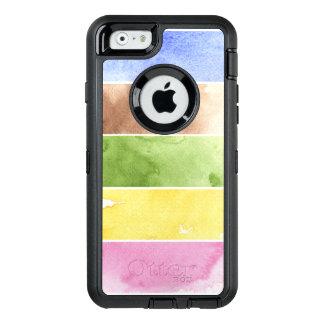 Coque OtterBox iPhone 6/6s grand arrière - plan d'aquarelle - peintures