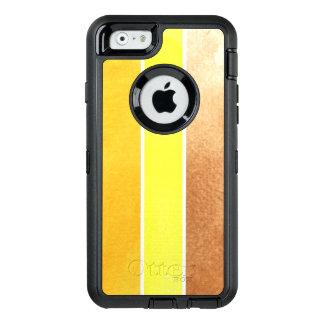 Coque OtterBox iPhone 6/6s grand arrière - plan jaune d'aquarelle - aquarelle