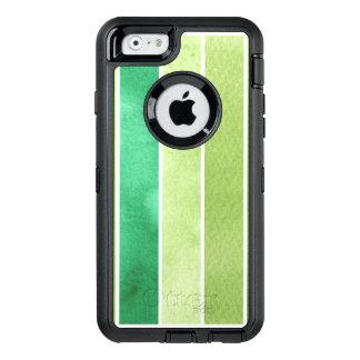 Coque OtterBox iPhone 6/6s grand arrière - plan vert d'aquarelle - aquarelle