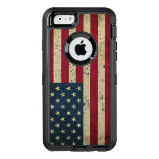 Coque OtterBox iPhone 6/6s Grunge de drapeau des Etats-Unis