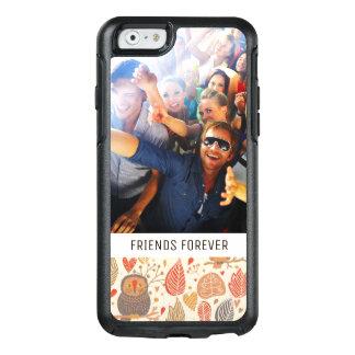 Coque OtterBox iPhone 6/6s Hiboux faits sur commande de photo et de textes