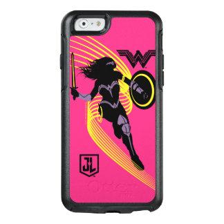 Coque OtterBox iPhone 6/6s Icône de silhouette de femme de merveille de la