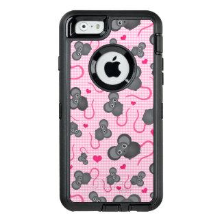 Coque OtterBox iPhone 6/6s J'aime mon motif de souris dans le rose