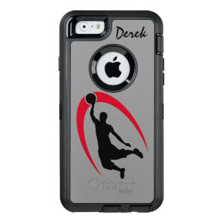 Coque OtterBox iPhone 6/6s Joueur de basket rouge noir