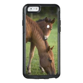 Coque OtterBox iPhone 6/6s Jument et colt quarts américains de cheval dans le