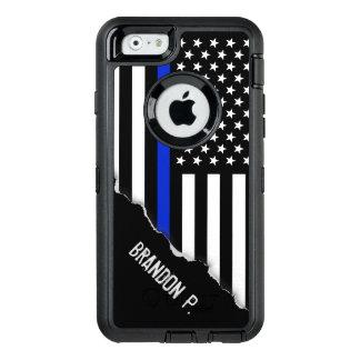 Coque OtterBox iPhone 6/6s La police a dénommé le nom de coutume de drapeau