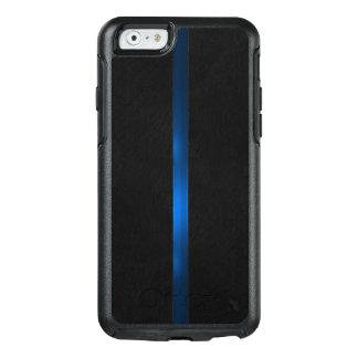 Coque OtterBox iPhone 6/6s L'aspect en bois noir amincissent Blue Line