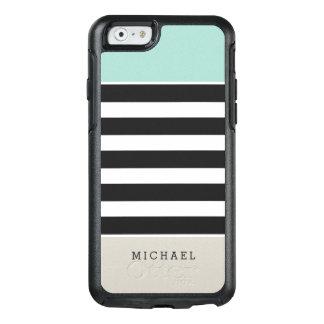 Coque OtterBox iPhone 6/6s Le blanc noir beige en bon état barre le nom de