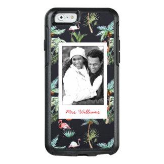 Coque OtterBox iPhone 6/6s Le motif   de paume d'aquarelle ajoutent votre