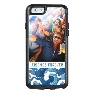 Coque OtterBox iPhone 6/6s Le résumé ondule | votre photo et texte
