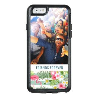 Coque OtterBox iPhone 6/6s Les flamants et les rayures | ajoutent votre photo