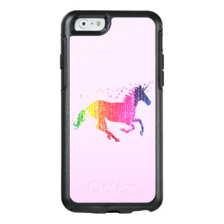 Coque OtterBox iPhone 6/6s Licorne de rose d'arc-en-ciel