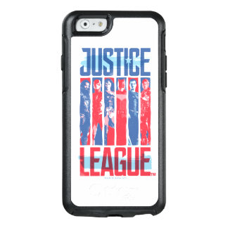 Coque OtterBox iPhone 6/6s Ligue de justice art bleu et rouge de | de groupe