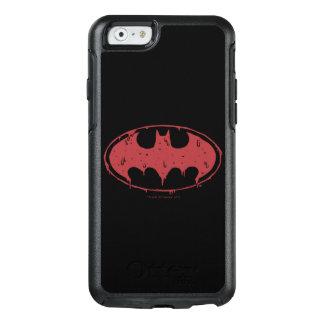 Coque OtterBox iPhone 6/6s Logo de suintement de batte rouge de Batman |