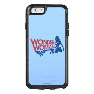Coque OtterBox iPhone 6/6s Logo rouge et bleu d'anniversaire de femme de