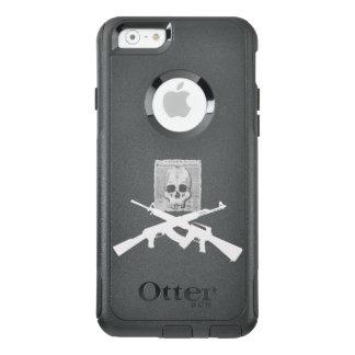 Coque OtterBox iPhone 6/6s M16 et crâne et os croisés d'AK-47