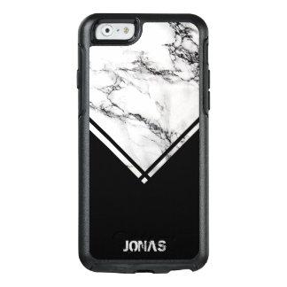 Coque OtterBox iPhone 6/6s Marbre gris-foncé et blanc et rayures noires