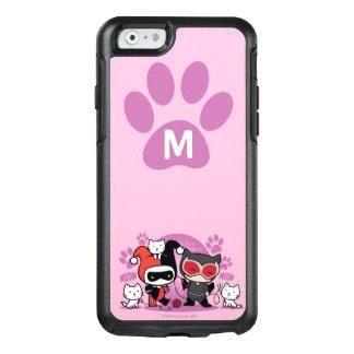 Coque OtterBox iPhone 6/6s Monogramme Chibi Harley Quinn et Catwoman avec des