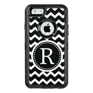 Coque OtterBox iPhone 6/6s Monogramme noir et blanc audacieux Chevron
