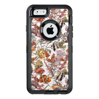Coque OtterBox iPhone 6/6s Motif 2 de vie marine d'aquarelle