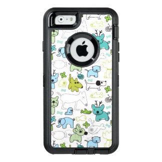 Coque OtterBox iPhone 6/6s motif animal d'arrière - plan d'enfants