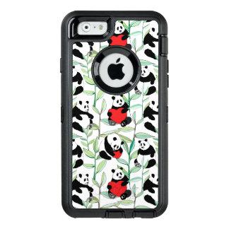 Coque OtterBox iPhone 6/6s motif avec de beaux pandas avec des coeurs