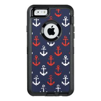 Coque OtterBox iPhone 6/6s Motif blanc et bleu rouge de marine