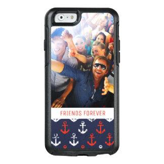 Coque OtterBox iPhone 6/6s Motif blanc et bleu rouge | votre photo et texte