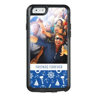 Coque OtterBox iPhone 6/6s Motif bleu | de mer votre photo et texte
