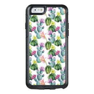 Coque OtterBox iPhone 6/6s Motif d'art de cactus d'aquarelle
