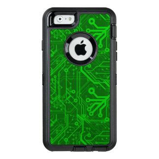 Coque OtterBox iPhone 6/6s Motif de carte électronique de vert
