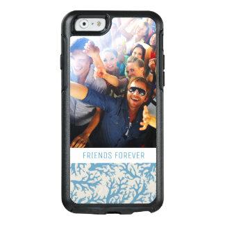 Coque OtterBox iPhone 6/6s Motif de corail bleu | votre photo et texte