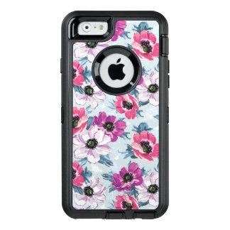 Coque OtterBox iPhone 6/6s Motif de fleurs de couleur d'élégance sur le bleu
