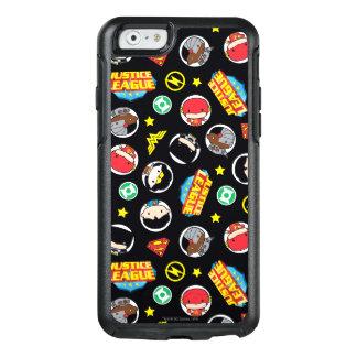 Coque OtterBox iPhone 6/6s Motif de héros et de logos de ligue de justice de