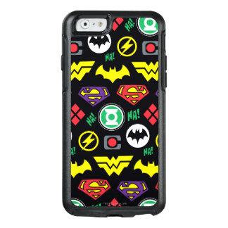 Coque OtterBox iPhone 6/6s Motif de logo de ligue de justice de Chibi
