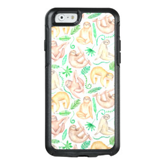 Coque OtterBox iPhone 6/6s Motif de paresse d'aquarelle