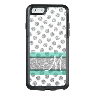 Coque OtterBox iPhone 6/6s Motif de point argenté de polka de scintillement