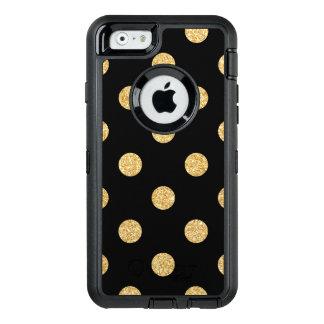 Coque OtterBox iPhone 6/6s Motif de pois élégant de scintillement de noir et