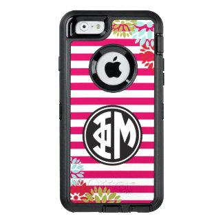 Coque OtterBox iPhone 6/6s Motif de rayure de monogramme de la MU | de phi