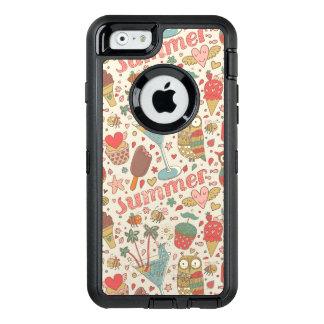 Coque OtterBox iPhone 6/6s Motif d'été avec la crème glacée
