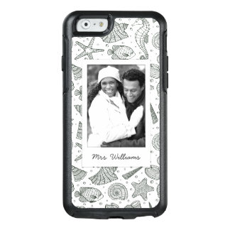 Coque OtterBox iPhone 6/6s Motif   d'habitants d'océan votre photo et nom