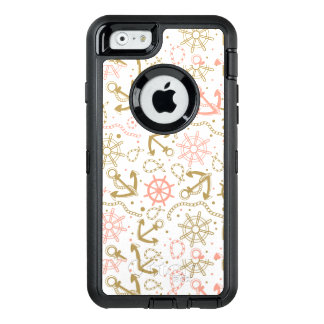 Coque OtterBox iPhone 6/6s Motif d'or d'ancre