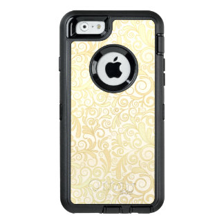 Coque OtterBox iPhone 6/6s Motif floral de feuille d'or