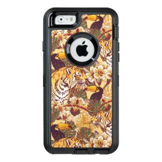 Coque OtterBox iPhone 6/6s Motif floral tropical avec le tigre