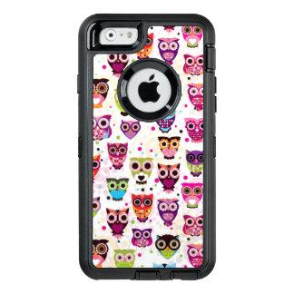 Coque OtterBox iPhone 6/6s Motif mignon d'arrière - plan de hibou pour des