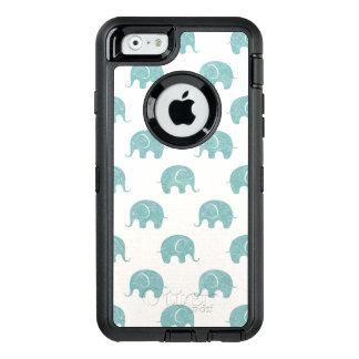 Coque OtterBox iPhone 6/6s Motif mignon turquoise d'éléphant