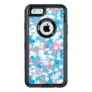 Coque OtterBox iPhone 6/6s Motif rose et bleu de chien de camouflage